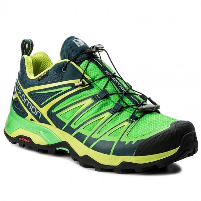 Trekker Boots SALOMON X Ultra 3 Gtx GORE TEX 398669 26 V0 Reflecting PondClassic GreenLime Green