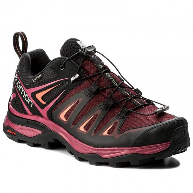 5094f236 Trekker Boots SALOMON - X Ultra 3 Gtx W GORE-TEX 398681 20 V0 Tawny  Port/Black/Living Coral