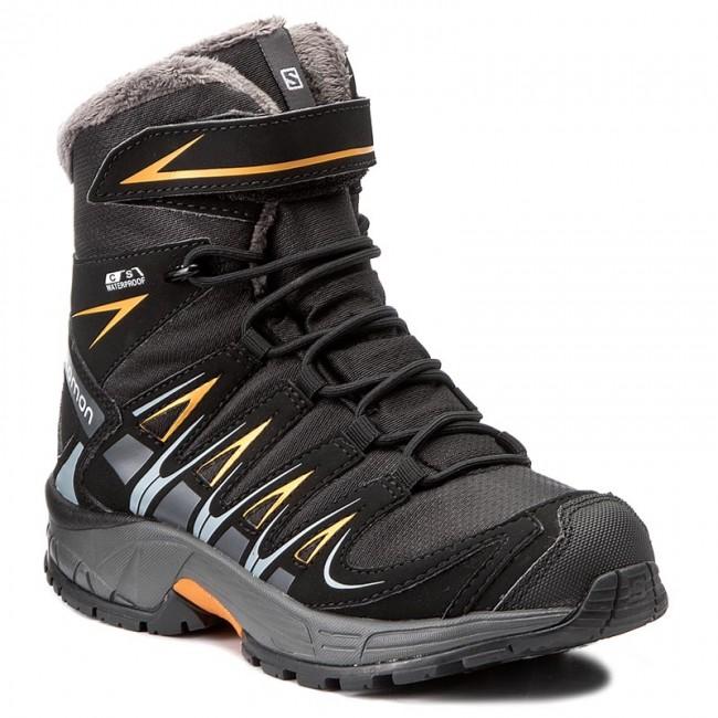 Snow Boots SALOMON Xa Pro 3D Winter Ts Cswp J 398457 09 M0 BlackIndia InkBright Marigold