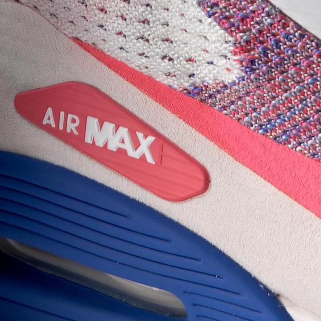 Shoes NIKE W Air Max 90 Ultra 2.0 Flyknit 881109 103 WhiteRacer PinkMedium Blue