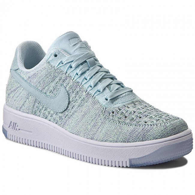 new style 8e148 92772 Shoes NIKE - W Af1 Flyknit Low 820256 400 Bleu Glacier/Bleu Glacier