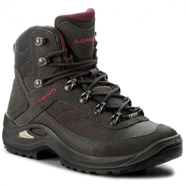 Trekker Boots LOWA Taurus Gtx Mid Ws GORE TEX 320552 AnthrazitBeere 9756