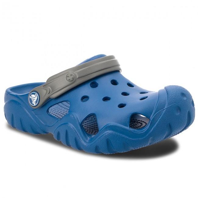 Slides CROCS Swiftwater Clog K 202607 Blue JeanSlate Grey