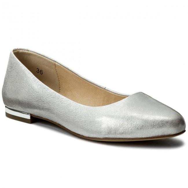 Flats CAPRICE 9 22107 20 Silver Metal 920