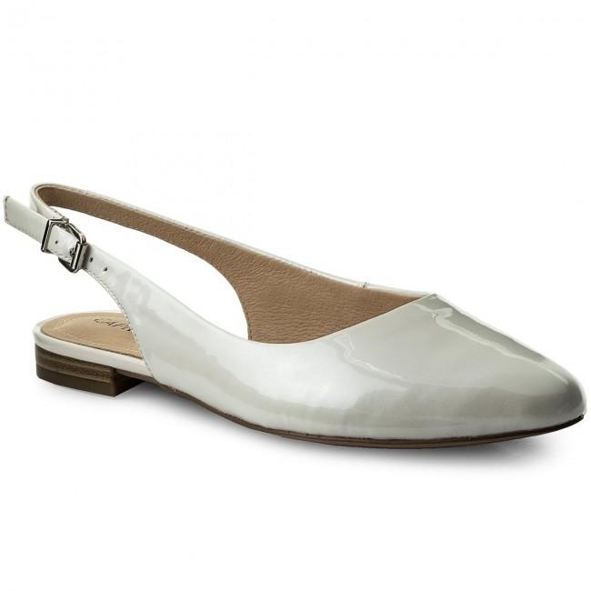 Sandals CAPRICE - 9-29402-20 White Patent 123