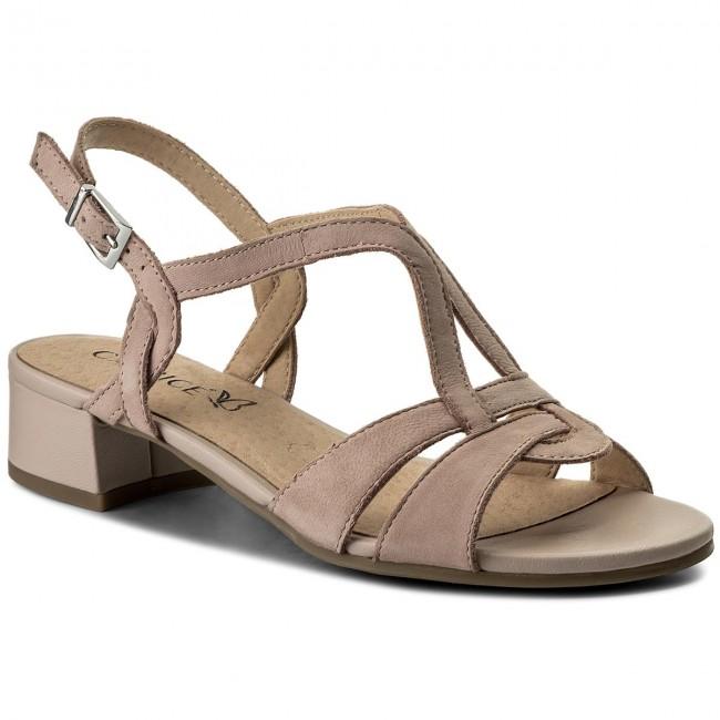 Sandals CAPRICE - 9-28201-20 Rose Nubuc 509