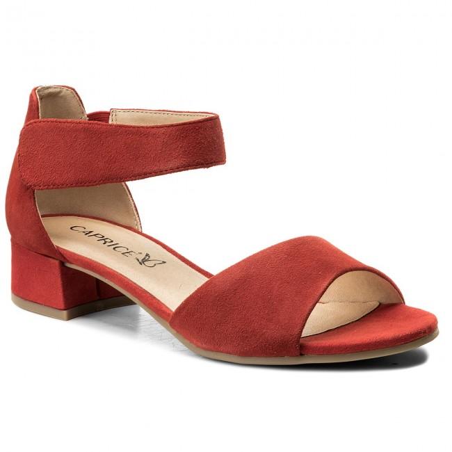 Sandals CAPRICE - 9-28212-20 Red Suede 524