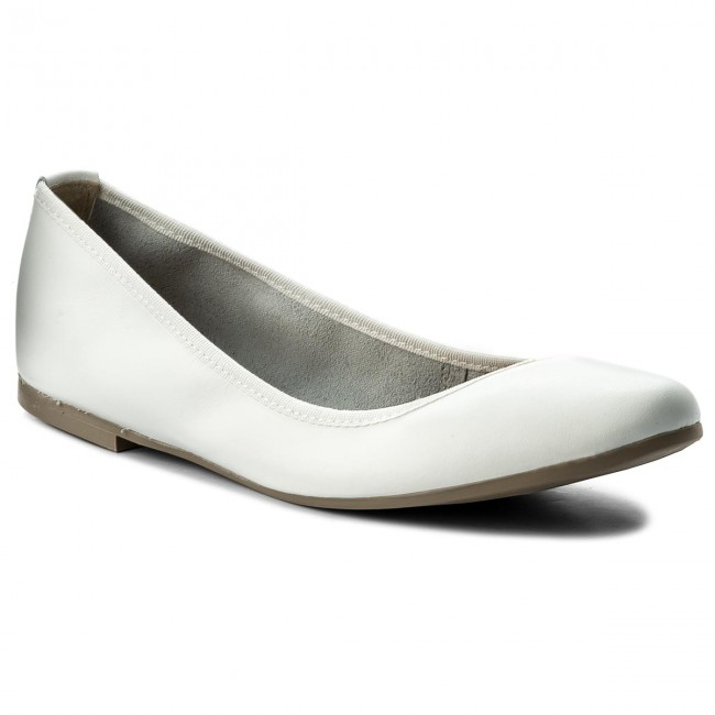 Flats TAMARIS 1 22128 20 White Leather 117
