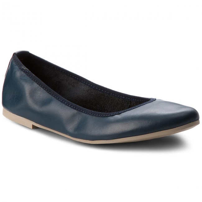 Flats TAMARIS - 1-22128-20 Navy Leather 848