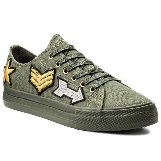 Plimsolls TAMARIS - 1-23633-20 Khaki Militar 708