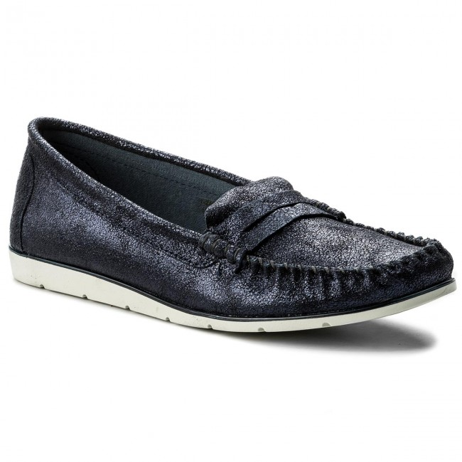 Moccasins TAMARIS - 1-24604-20 Navy Metallic 824