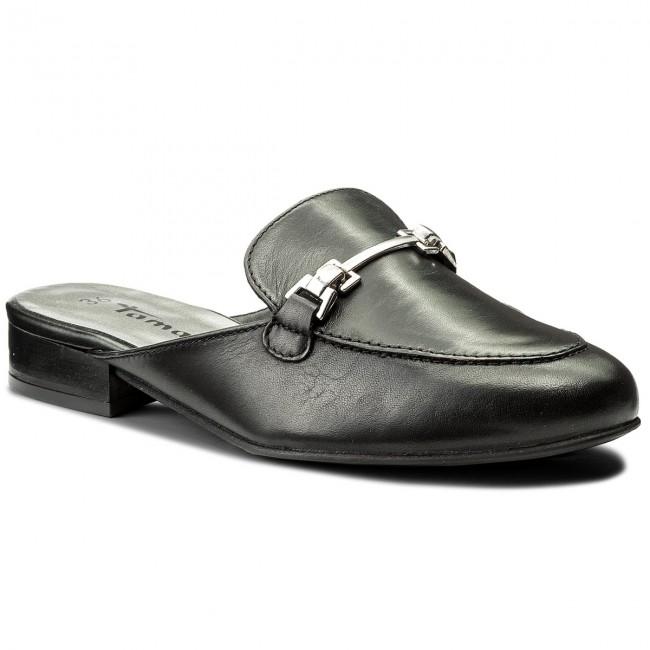 Slides TAMARIS - 1-27316-20 Black Leather 003