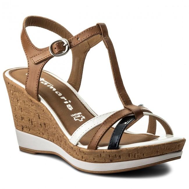 Sandals TAMARIS - 1-28347-20 Cognac Comb 392