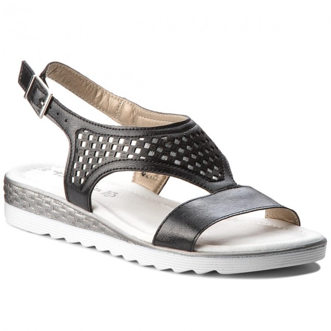 Sandals TAMARIS - 1-28713-20 Blk/Silv. Met 056
