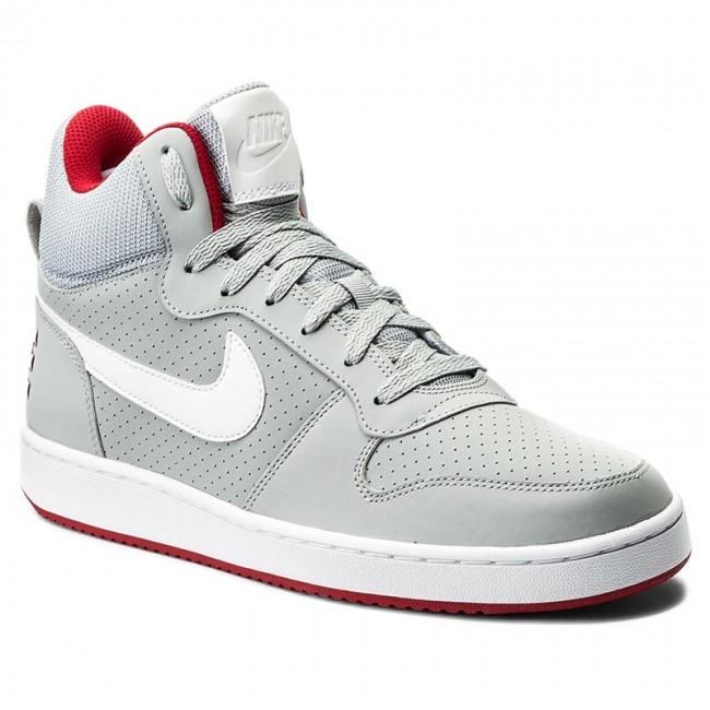 Shoes NIKE Court Borough Mid 838938 002 Wolf GreyWhiteGym Red