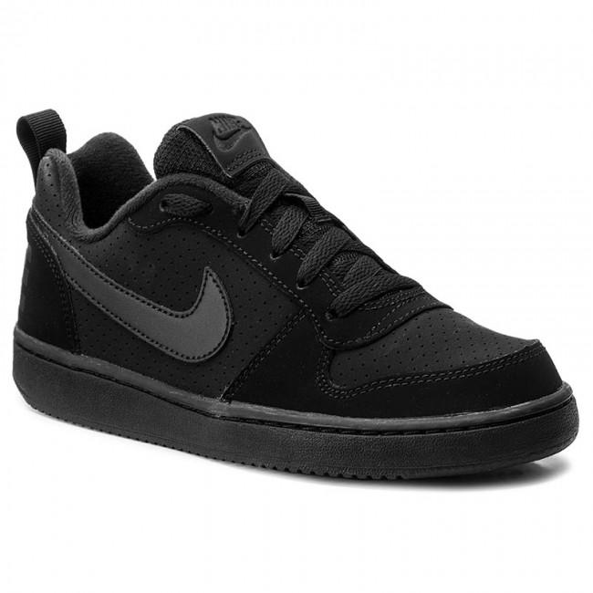 Shoes NIKE , Court Borough Low (GS) 839985 001 Black/Black/Black