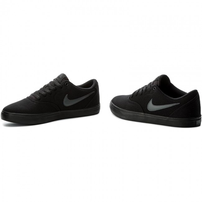 Shoes Nike Sb Check Solar Cnvs 843896 002 Black Anthracite Sneakers Low Shoes Women S Shoes Efootwear Eu