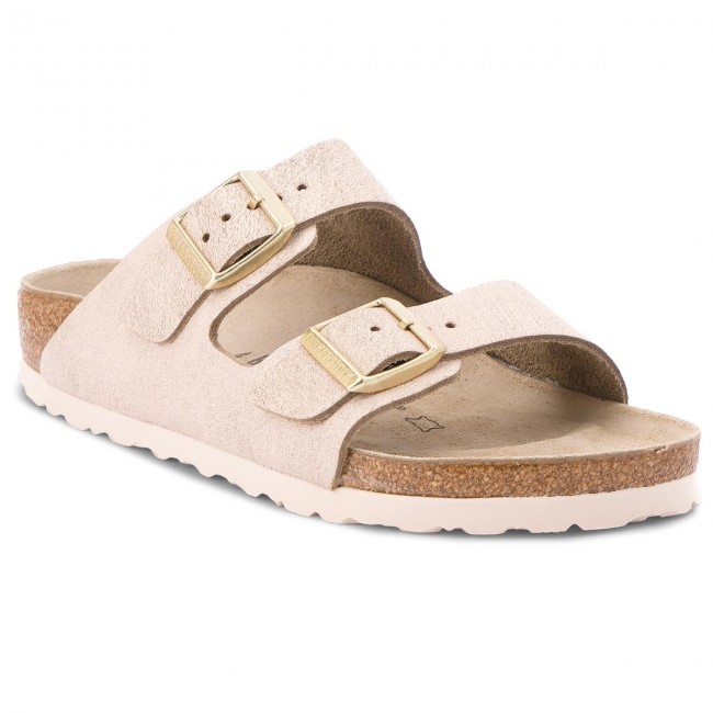 bad48a60f Slides BIRKENSTOCK - Arizona Bs 1008800 Washed Metallic Rose Gold - Casual  mules - Mules - Mules and sandals - Women's shoes - efootwear.eu