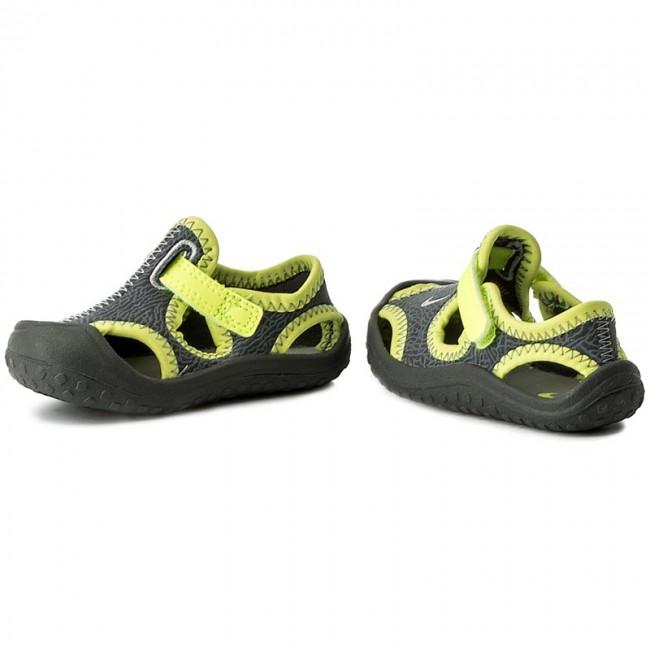 Nike Sunray Protect PS Kids Boys Girls Sandals Grey//Volt