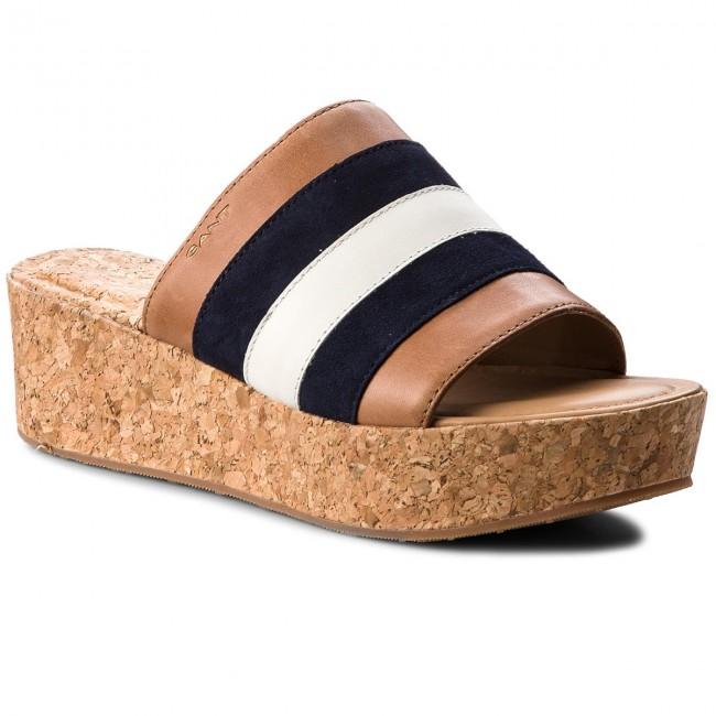 Slides GANT - Judith 16563512  Marine/Tan/Cream G685