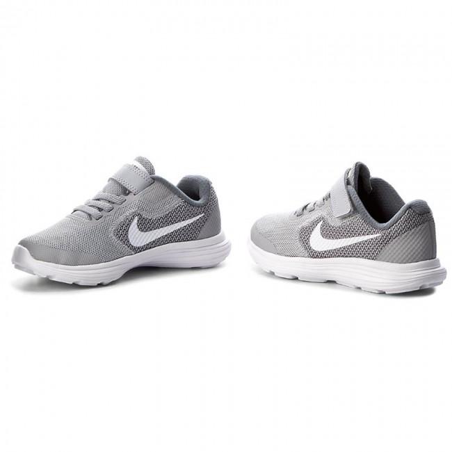 Shoes NIKE Revolution 3 (Psv) 819414 008 Wolf GreyWhiteCool Grey