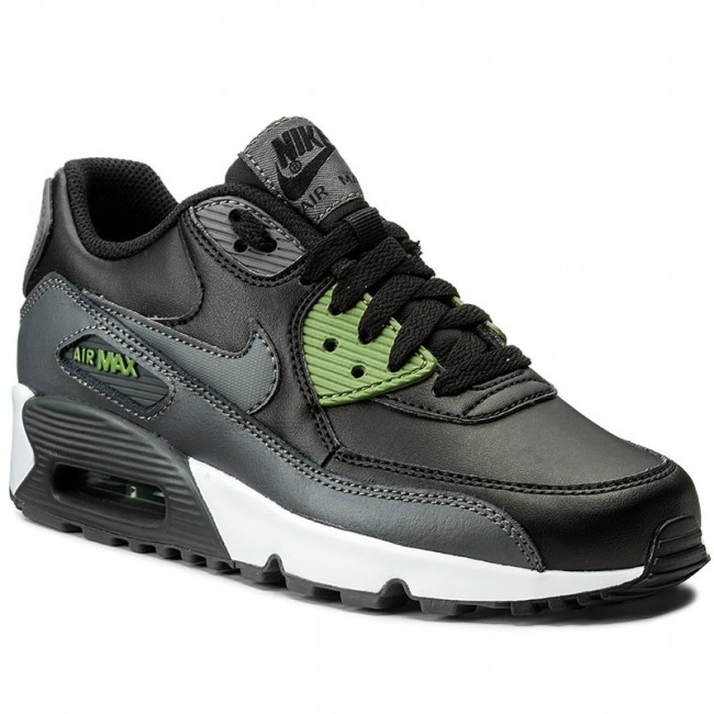 especificar caligrafía Whitney  Shoes NIKE - Air Max 90 Ltr (GS) 833412 008 Black/Dark Grey/Palm Green -  Laced shoes - Low shoes - Girl - Kids' shoes | efootwear.eu