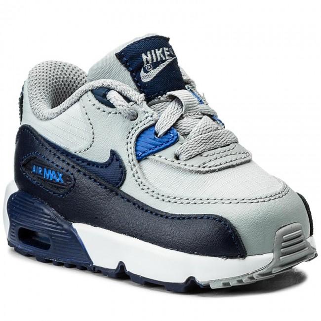 Shoes NIKE Air Max 90 Mesh (TD) 833422 009 Wolf GreyBinary Blue