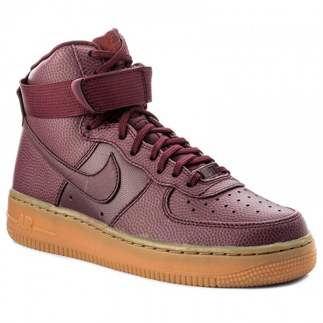 Shoes NIKE Wmns Air Force 1 Hi Se 860544 600 Night MaroonNight Maroon