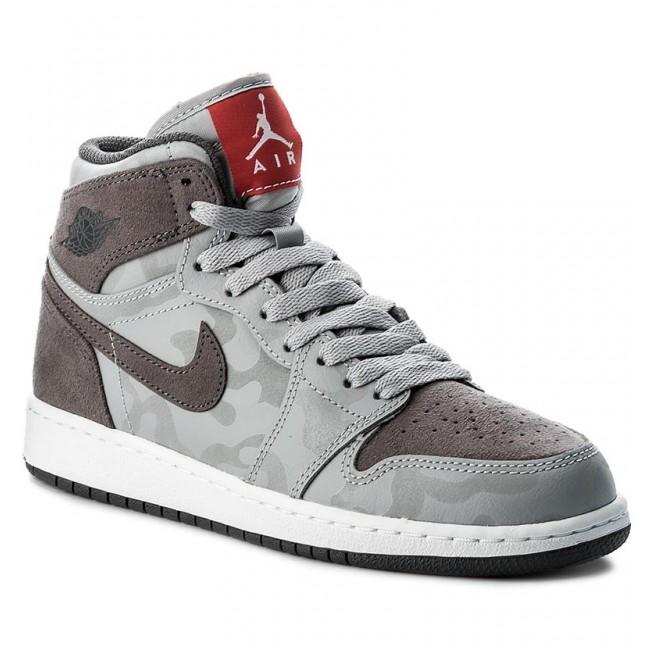 clearance prices timeless design so cheap Shoes NIKE - Air Jordan 1 Retro Hi Prem Bg 822858 027 Wolf Grey/Dark  Grey/White