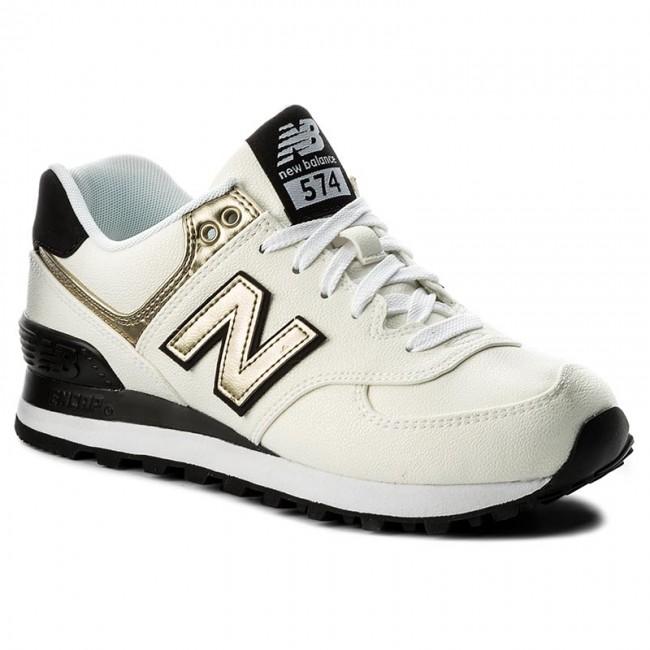 New Balance Damen Sneaker WL574SFG White//Gold