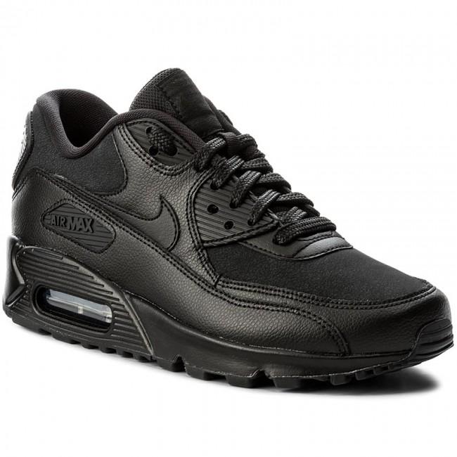 Shoes NIKE - Wmns Air Max 90 Lea 921304 001 Black/Black/Blue Tint