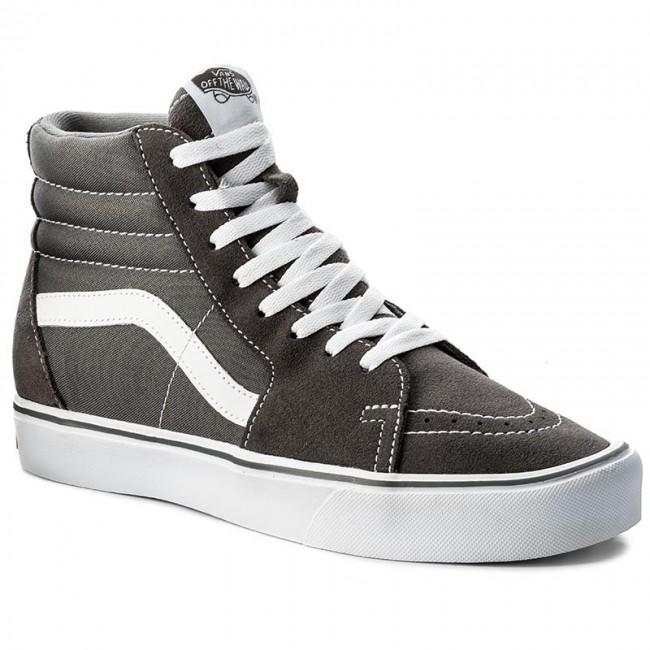 Vans Sk8 Hi Reissue Black & Pewter Checkered Skate Shoes