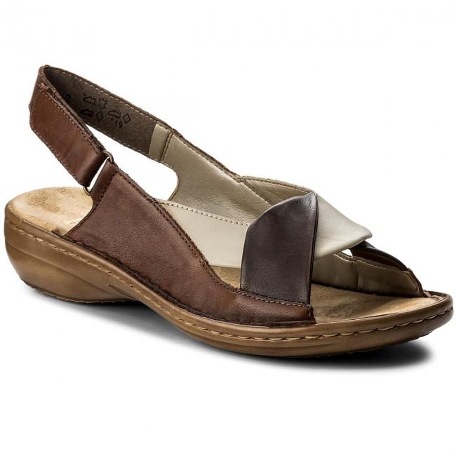 Sandals RIEKER 60832 25 Braun Kombi