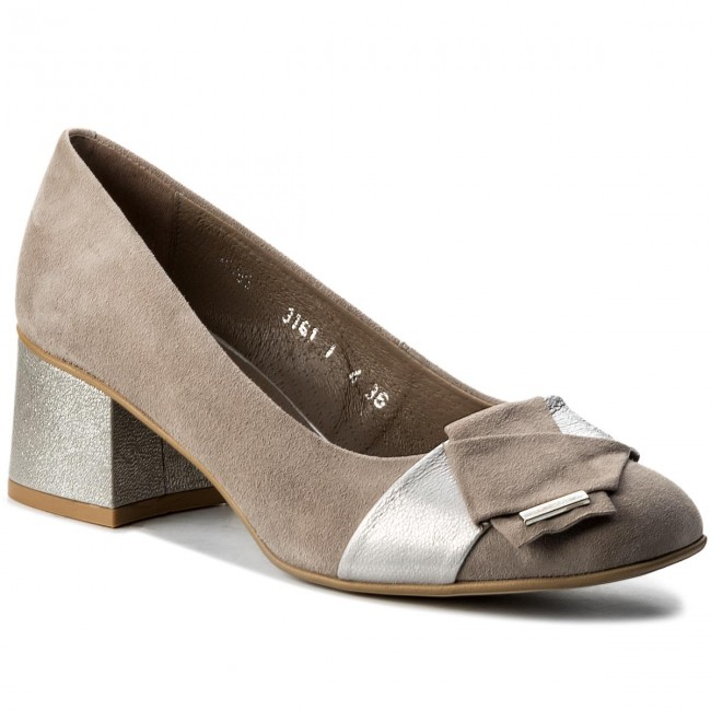 Shoes ANN MEX - 8395 11W+11SR Grey