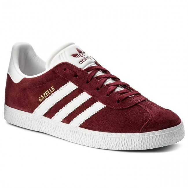 Adidas Originals Gazelle Shoes MaroonFootwear WhiteGoldmt