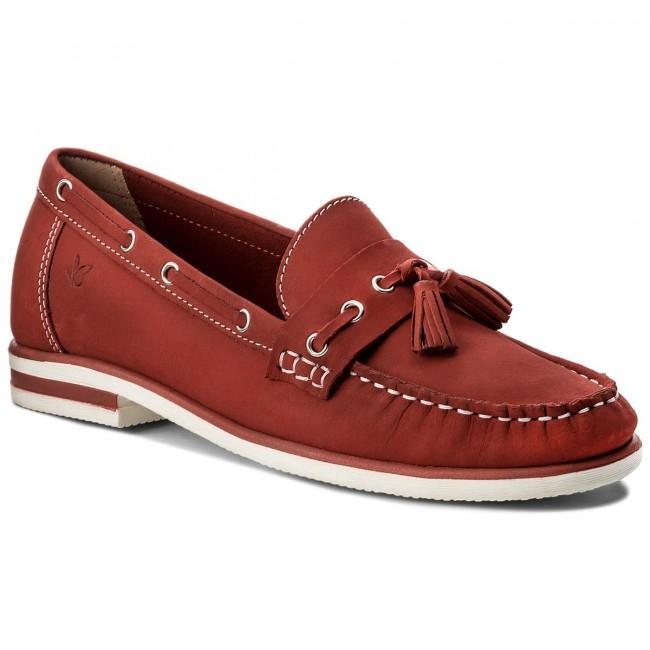 Moccasins CAPRICE - 9-24205-20 Red Nubuc 544