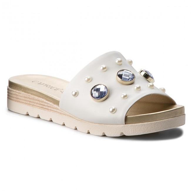 Slides CAPRICE - 9-27105-30 White Nappa 102