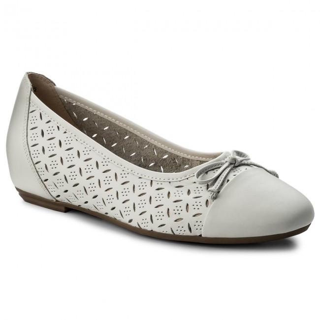 Flats CAPRICE - 9-22128-20 White Nappa 102