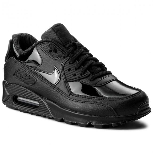 Shoes NIKE Wmns Air Max 90 Lea 921304 002 BlackBlackBlack