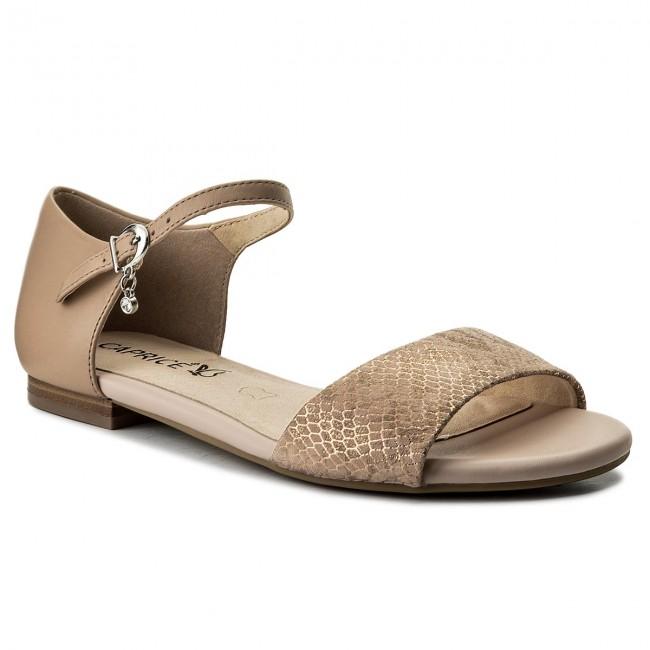 Sandals CAPRICE - 9-28109-20 Beige Met Mult 425