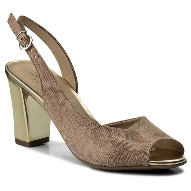 Sandals CAPRICE - 9-28314-20 Beige Metallic 424