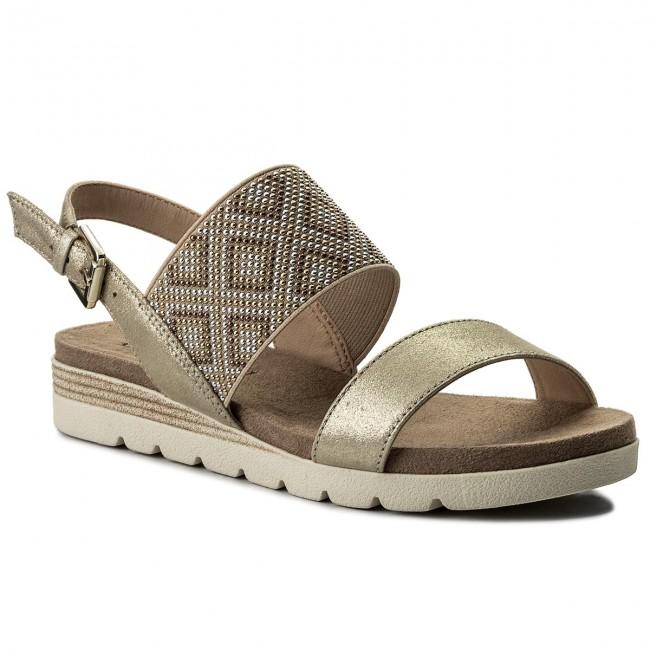 Sandals CAPRICE - 9-28604-20 Lt Gold Multi 970