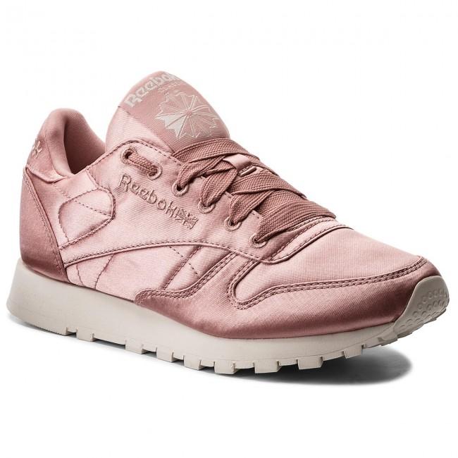 Shoes Reebok Cl Lthr Satin CM9800 Chalk PinkClassic Wht