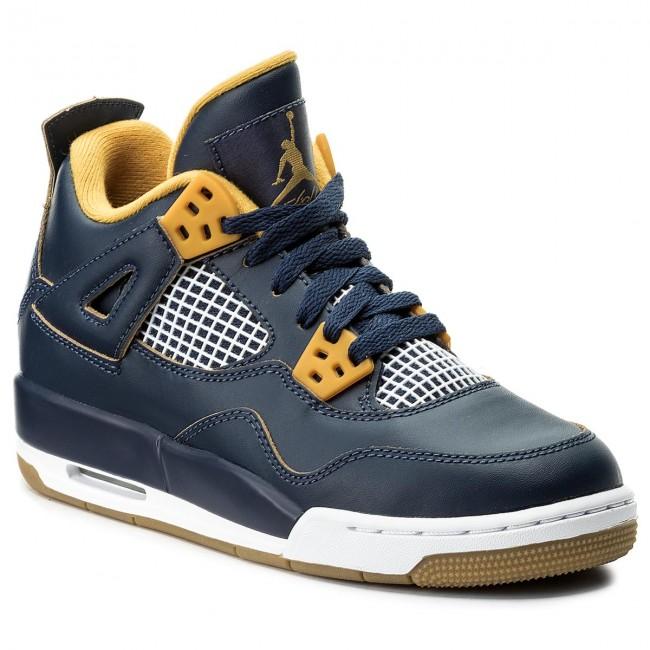 hot sale online c08d2 cad2f Shoes NIKE - Air Jordan 4 Retro BG 408452 425 Mid Nvy/Mtlc Gld Str/Gld Fl/Wh