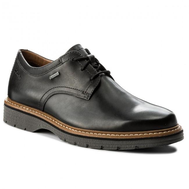 Shoes CLARKS Newkirk Go Gtx GORE TEX 261218877 Black Leather