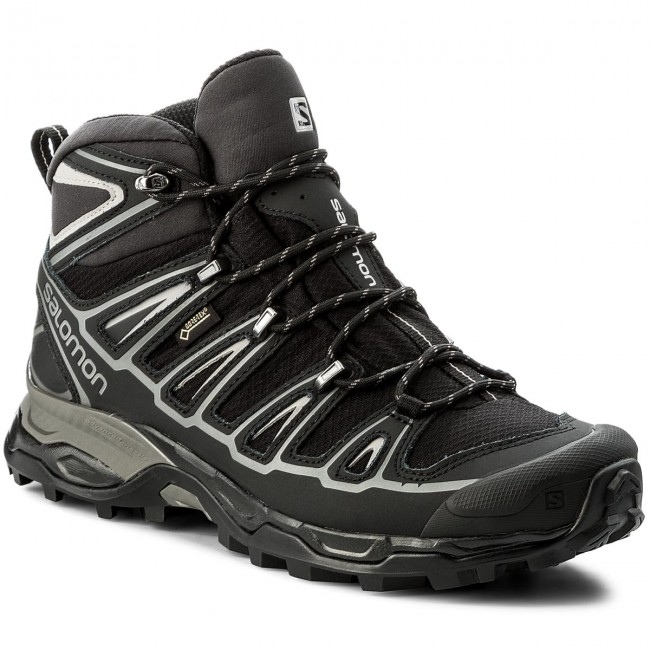 low priced 96853 d794e Trekker Boots SALOMON - X Ultra Mid 2 Spikes Gtx GORE-TEX 377820 27 V0  Black/Black/Aluminium