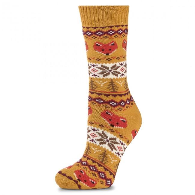niska cena sprzedaży najlepiej tanio najlepiej sprzedający się Tall Socks Unisex MANY MORNINGS - Warm Fox Winter Colourful Yellow
