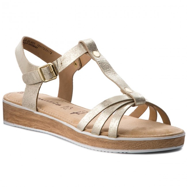 Sandals TAMARIS - 1-28605-20 Lt Gold Met. 903