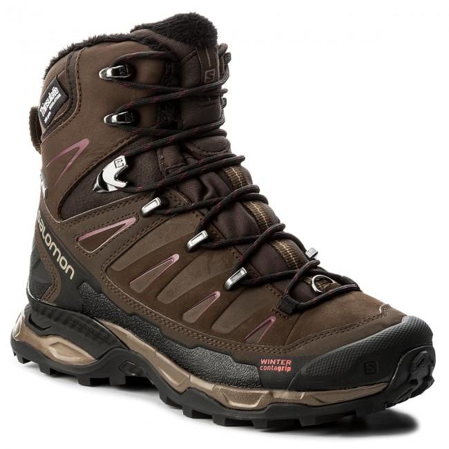 Trekker Boots SALOMON X Ultra Winter Cs Wp W 391833 20 V0 Absolute Brown XBrown BlackBordeaux