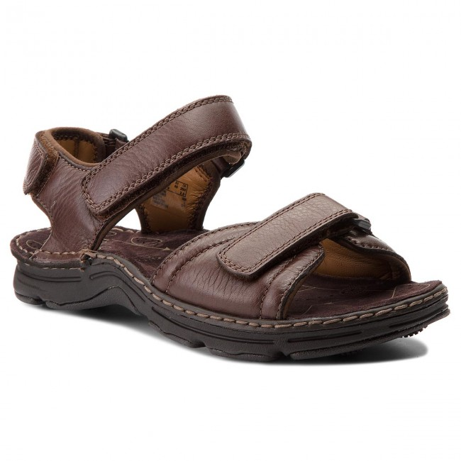 Sandalen CLARKS Atl Part 203531967 Dark Brown Lea